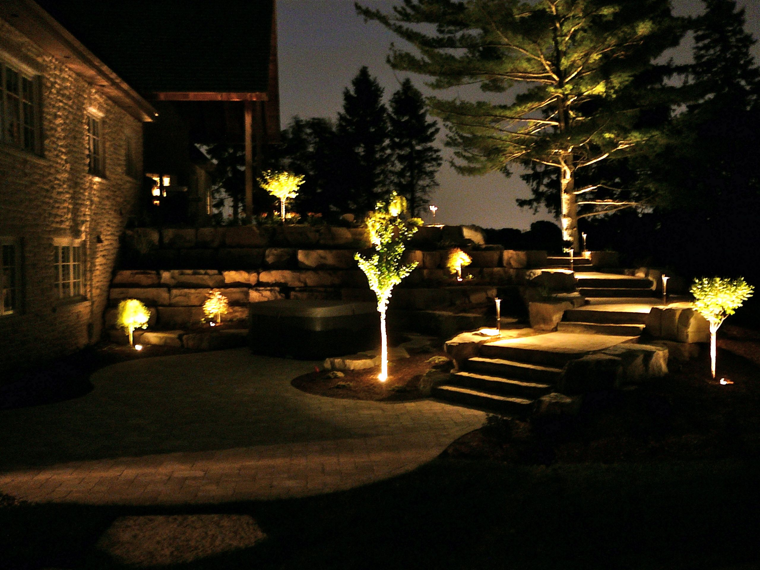 Gallery Landscape Lighting Swiss Hills Landscaping